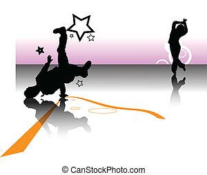 two dancer background design