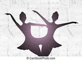 two dancers illustration