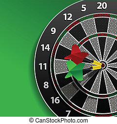 Two darts in aim