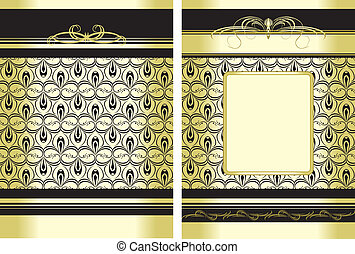 Two decorative backgrounds