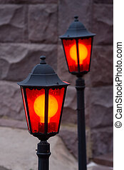 Two decorative lanterns