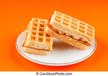 soft waffles with filling