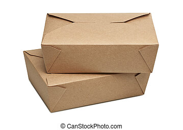 Two delivery blank carton box for ready to eat food