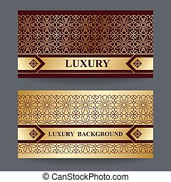 Bright background with gold foil on brown backdrop