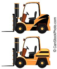 Two designs of forklift truck