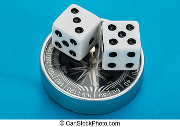 Two Dice On Compass