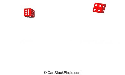 Two dice rolling then a 6&6 comes - Two dice rolling then a...