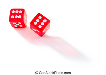 Two dices in motion