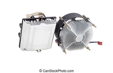 Two different active CPU heatsinks with fans