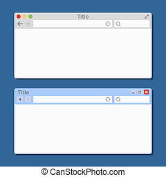 Two Different Blank Browser Windows. Vector - Two Different...