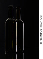 Two different bottles of wine