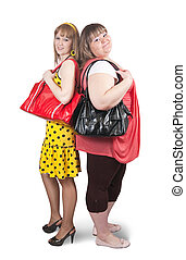girlfriends with bag - Two different girlfriends with bag ...