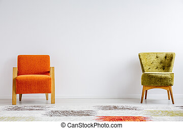 Two different retro chairs