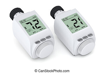 digital radiator thermostatic valve - two digital radiator...