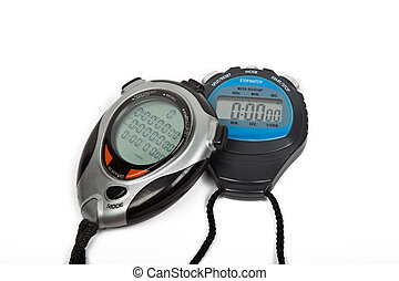 two digital stop watches