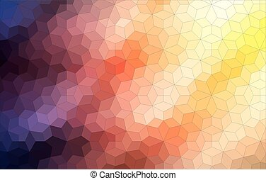 Two-dimensional mosaic colorful background - Two dimensional...