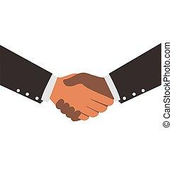 Two Diversity Businessmen Shaking Hands