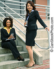 Two Diversity Businesswoman