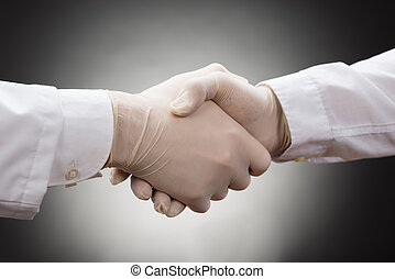 Two Doctor's Shaking Hand