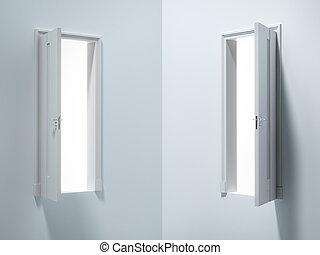 Two doors in room