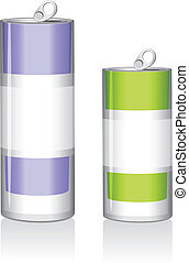 Two drink cans. Vector illustration