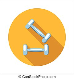 Two dumbbells flat icon