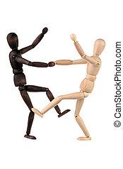 Two dummy dance