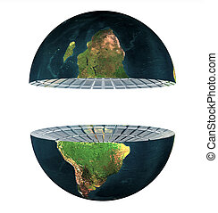two earth hemisphere isolated on white
