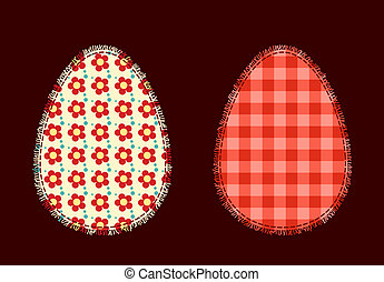 Two Easter eggs