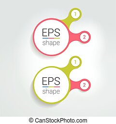 Two elements scheme, diagram, chart. Infographic template...