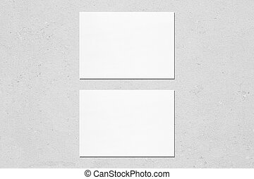 Two empty white horisontal rectangle card mockups - Two ...