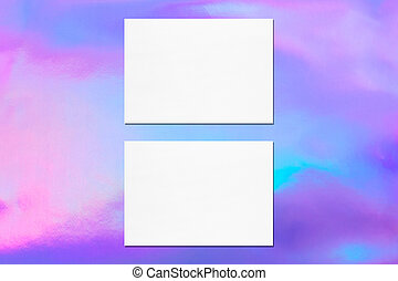 Two empty white horizontal rectangle card mockups - Two ...