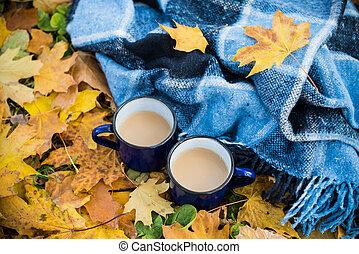 coffee and plaid