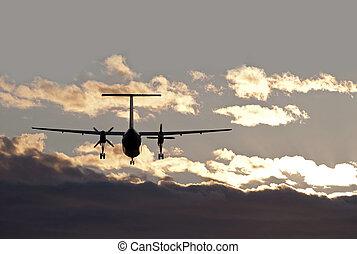 Two engine propeller aeroplane