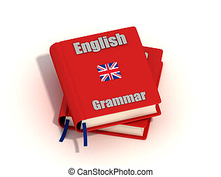 English grammar - Two English grammar isolated on white...