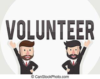 two entrepreneurs want to Volunteer