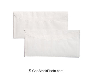 two envelopes on a white background