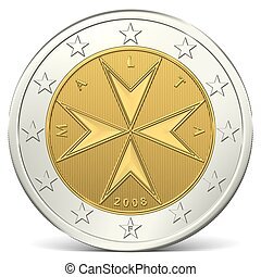 two euro coin back