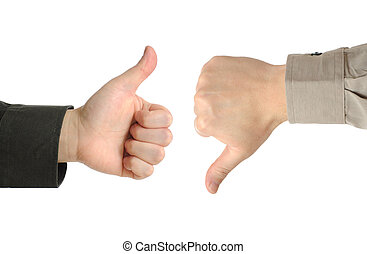 Two executives or businessmen disagreeing over a deal or...