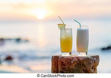 Two exotic cocktails