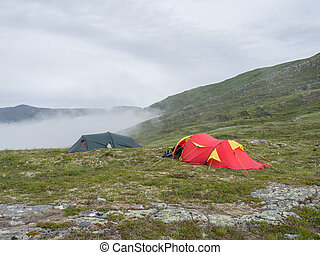 Two extreme tents in Norway