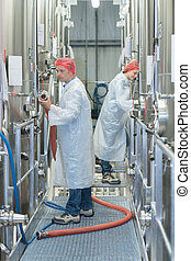 two factory workers