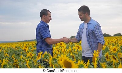 two farmers men handshake transaction business explore...
