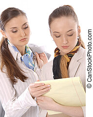 Two female business executives