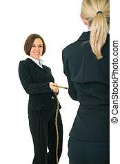 Two Female Businesswoman Compete