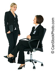 Two Female Businesswoman Discussing