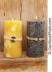 Two Feng shui candles