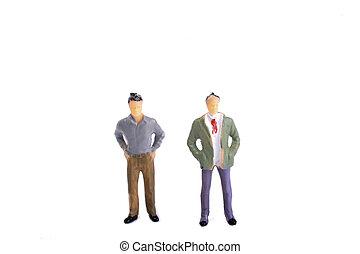 Two figurine model men