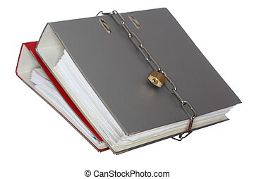 two file folder with chain