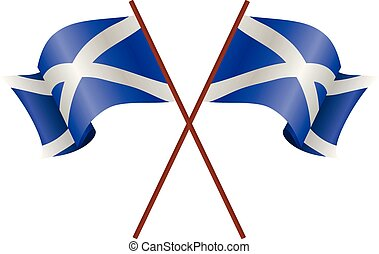 Two flag of Scotland